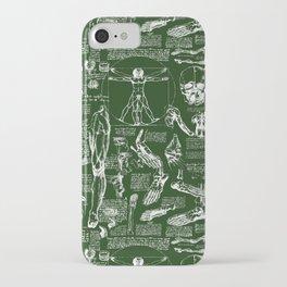 Da Vinci's Anatomy Sketchbook // Myrtle Green iPhone Case
