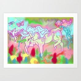 Otherworld Unicorns 7: At the Edge of a Dream Art Print
