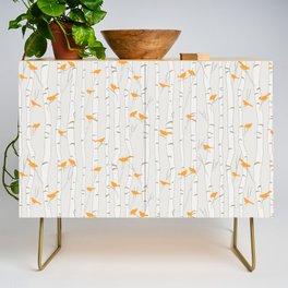 Birds & Birch - Orange Beige Credenza