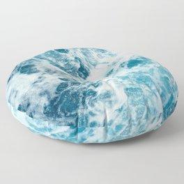 Ocean waves art Floor Pillow