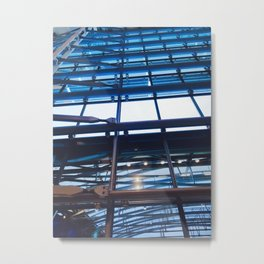 Heathrow London Airport Windows Metal Print
