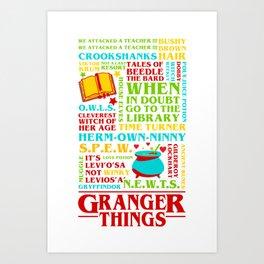 Granger Things Art Print