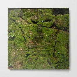 go green - moss buddha Metal Print