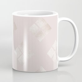 Elegant pale pink faux silver gold geometrical pattern Coffee Mug