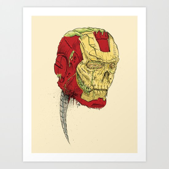 The Death of Iron Man Art Print