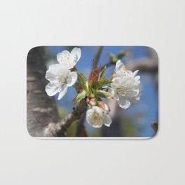 Cherry Blossom In Spring Sunlight Bath Mat