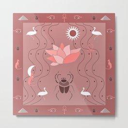Egyptian Design - Dusty Roses Metal Print