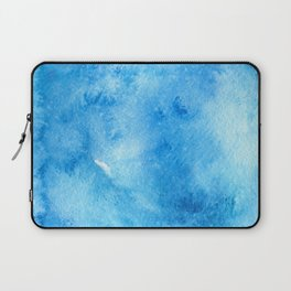 Turquoise watercolor doodle Laptop Sleeve