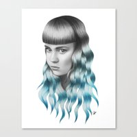grimes Canvas Prints featuring Grimes by Nestor