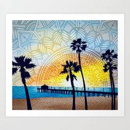 Beach Pier Art Print