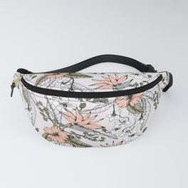 Tropical pattern pastel Fanny Pack