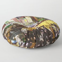 Bustling Big City New York landscape painting by George Wesley Bellows Floor Pillow