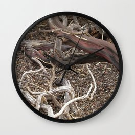 TEXTURES - Manzanita in Drought Conditions #3 Wall Clock