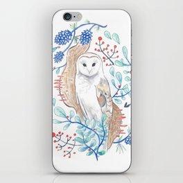 Owl in Pine iPhone Skin