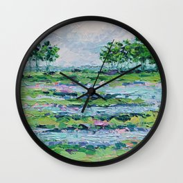 Marsh Romance Wall Clock