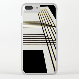 Lines on Paper Clear iPhone Case