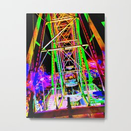 Trippy Ferris Wheel Metal Print