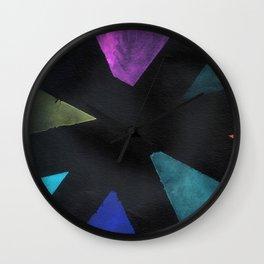 Intersection Triangles / Dennis Weber / ShreddyStudio Wall Clock