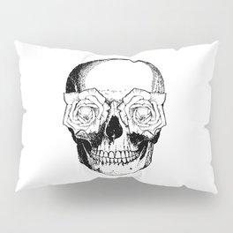 Skull and Roses | Black and White Pillow Sham