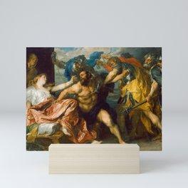 "Sir Anthony van Dyck ""The Capture of Samson"" or ""Samson and Delilah"" Mini Art Print"