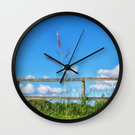 Grass in the country Wall Clock