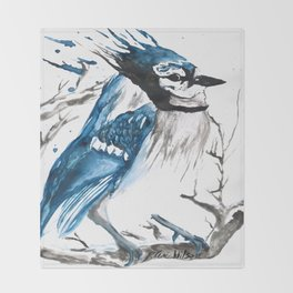True Blue Jay Throw Blanket