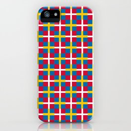 Mix of flag: sweden and denmark iPhone Case