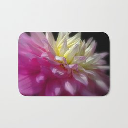 Bright Pink Chrysanthemum Bath Mat