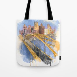 Pittsburgh Fort Pitt and Downtown Tote Bag