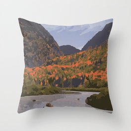 La Mauricie National Park Poster, Quebec Throw Pillow