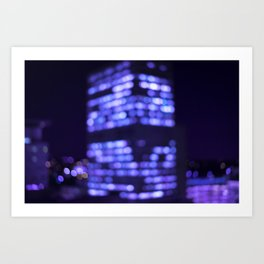 Get lost in the light. Art Print