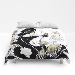 Gold Dandelions Comforters