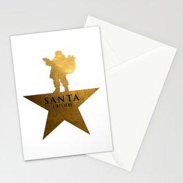 Santa Christmas Star Hamilton Parody Stationery Cards