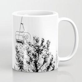 Ski Lift // Black and White Daylight Chairlift Mountain Photograph Coffee Mug