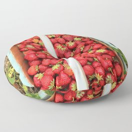 Strawberry Picking Floor Pillow
