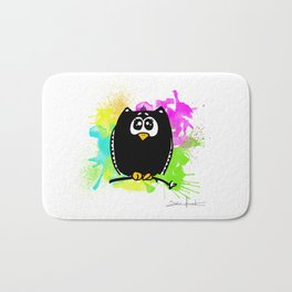 The owl without name Bath Mat