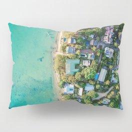 Aerial Beach View Pillow Sham
