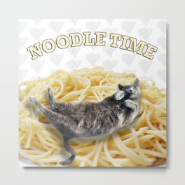 Noodle Time Metal Print