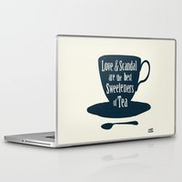 scandal Laptop & iPad Skins featuring Love & Scandal are the Best Sweeteners of Tea by andy fielding
