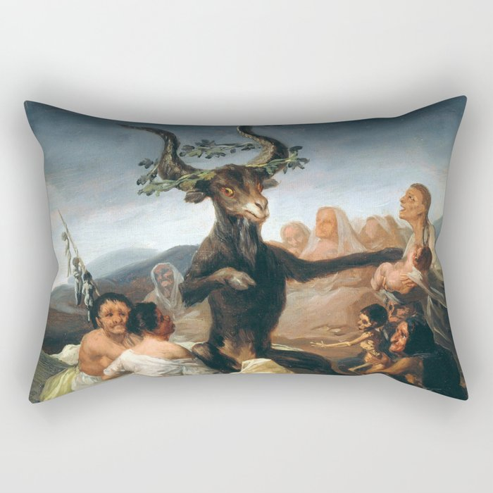 The Sabbath of Witches Goya Painting Rectangular Pillow