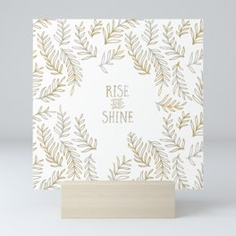 Graphic Art RISE & SHINE | gold Mini Art Print