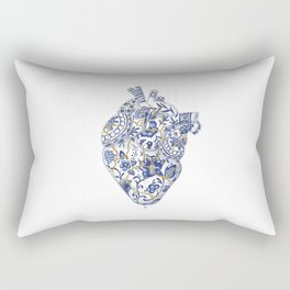 Broken heart - kintsugi Rectangular Pillow