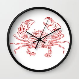 Crabby day! Wall Clock