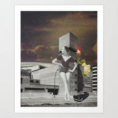 A Look Back Art Print