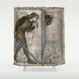 "Edward Burne-Jones ""Theseus and the Minotaur in the Labyrinth"" Shower Curtain"