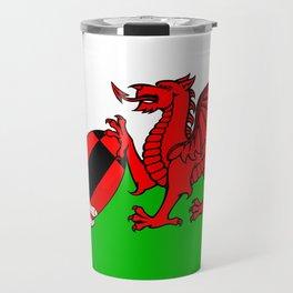 Wales Rugby Flag Travel Mug