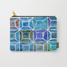Blue Mosaic Tiles Carry-All Pouch
