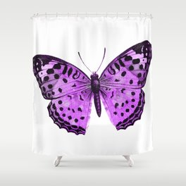 Luxurious Lilac-Pink Butterfly Shower Curtain