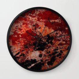 Rustic II - Abstract, metallic artwork Wall Clock