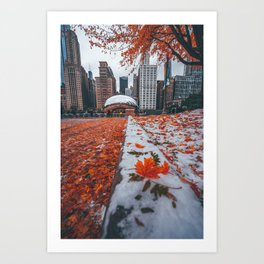 Fall and Winter Chicago Art Print
